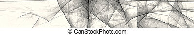 White and black abstract image. Gorizontal panoramic view for kithen panel skinali. 3d rendering