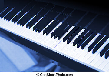 White and black keys a musical instrument - the piano