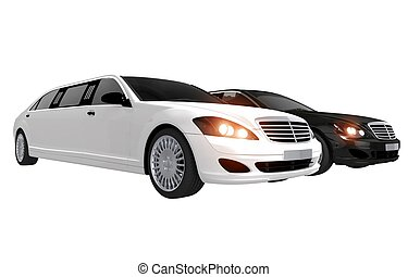 White and Black Limos