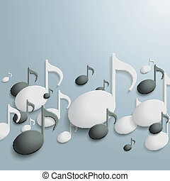White And Black Music Notes