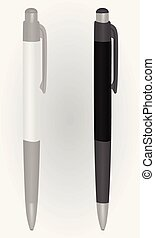 White and black pen template
