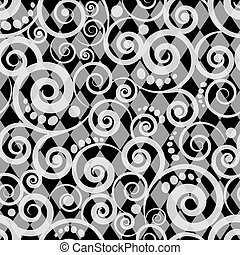 White and black seamless pattern card, vector illustration