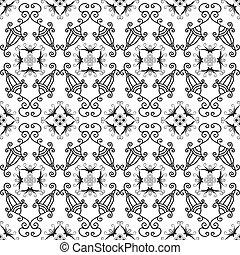 White and black seamless pattern