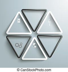 White And Black Triangles Pollution Background PiAd