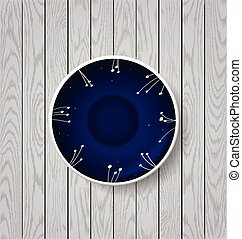 white and blue plate on wooden