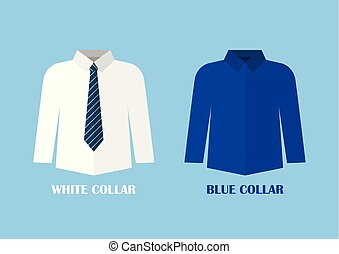 White and Blue shirt vector illustraton. White and blue...