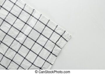 white and blue tablecloth