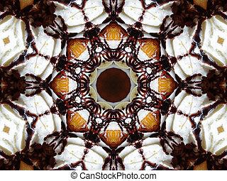 White and Brown Mandala Star