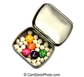 White and color pills