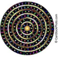 white and colored circles - abstract colored image of circle...
