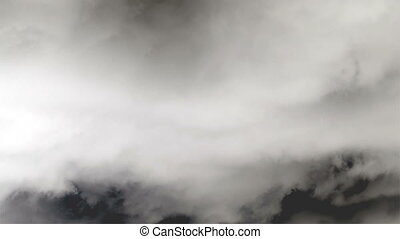 White and dark storm clouds