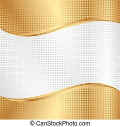 background - white and gold background with grid texture