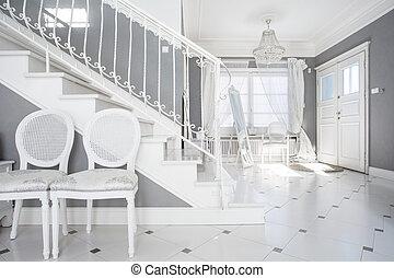 White and gray design