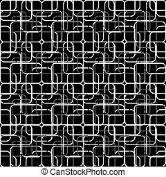 white and gray lines on a black background