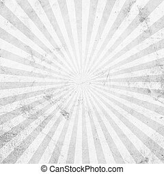 White and gray sunburst vintage and pattern background with space.