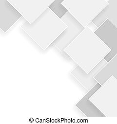 white and grey background with rhombus with shadows