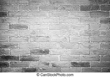 White and grey brick wall background