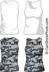 White and Military Shirts template. Vector - White and...