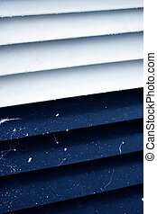 White and navy blue abstract