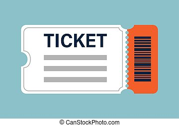 White and orange cinema tickets icon vector illustration designed in the flat style.