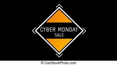 White and orange Cyber Monday Sale text appearing against ...