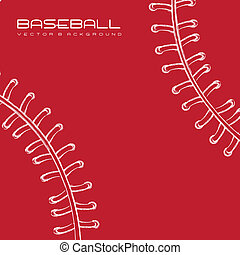 baseball - white and red baseball background. vector ...