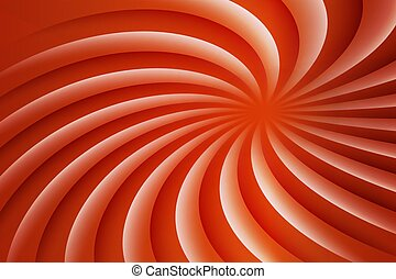 White and red rotating hypnosis spiral. Optical illusion. Hypnotic psychedelic vector illustration. Twirl abstract background. Easy to edit design template.