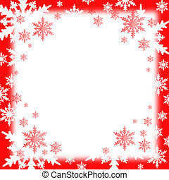 snow flakes background - white and red snow flakes...