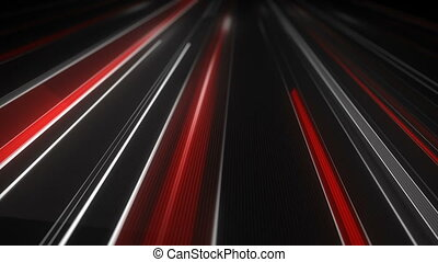 White and red traffic light streaks loopable animation