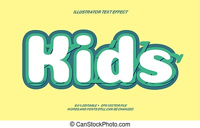 white and Tosca  colorText effect style design illustrator