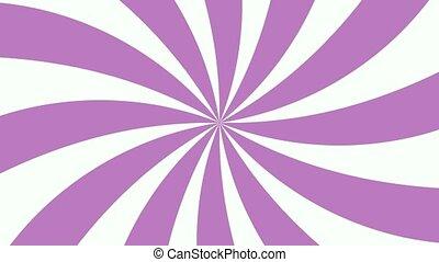 White and violet sunburst radial background pattern...