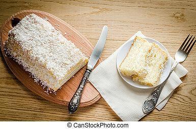 White Angel Food Cake