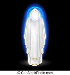 White angel on black - Gods guardian angel in white dress ...