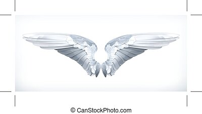 White angels wings