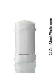 white antiperspirant on white isolated background