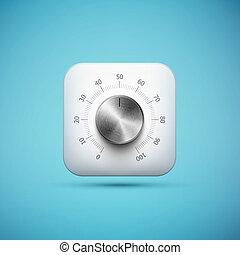 white app icon with music volume control knob