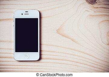 White Apple iPhone 4s - Odessa, Ukraine - January 21, 2015....