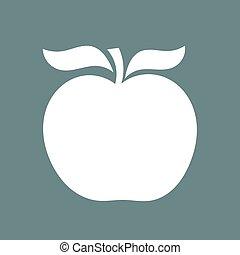 White apple shape