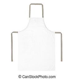 White apron isolated on white