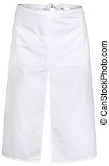 White apron with the pockets and outsets isolated on white