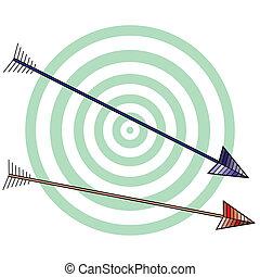 White archery background with aim