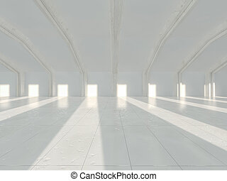 White architecture background. Abstract architectural interior.