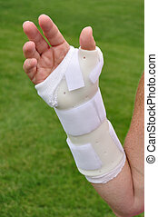 White Arm Brace  - White Plastic Arm Brace