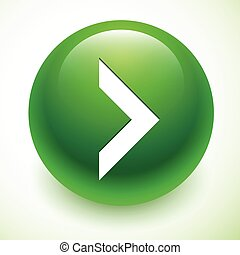 White arrow on green sphere. Next icon