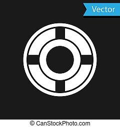 White Ashtray icon isolated on black background. Vector Illustration