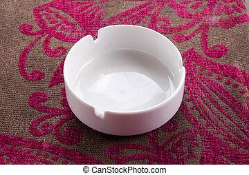 White ashtray