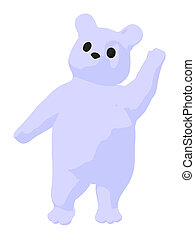 White Baby Bear Illustration - White baby bear on a white...