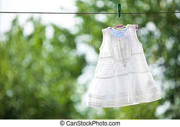 White baby dress outdoor