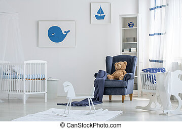 White baby room interior
