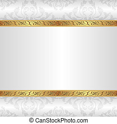 white background with golden ornaments